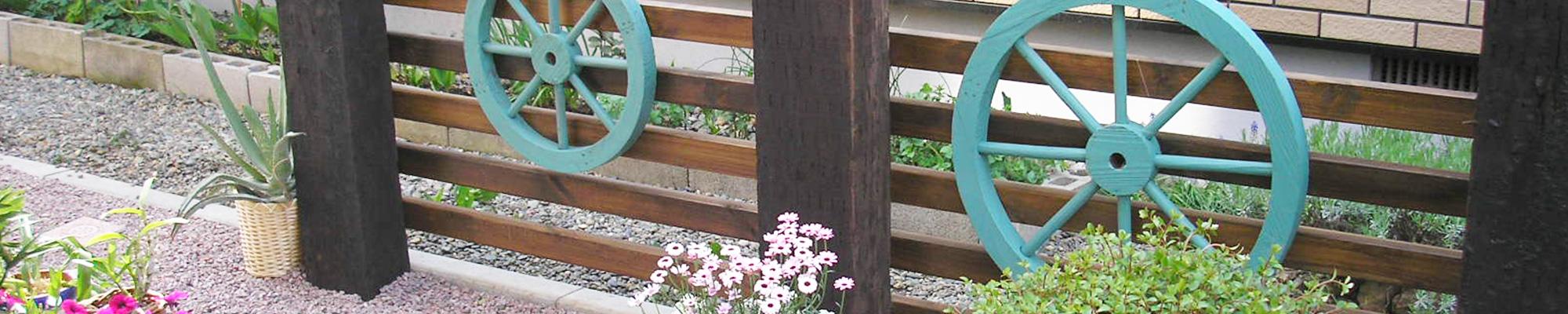 北海道恵庭市・白樺ガーデン・枕木を使用したオリジナルガーデニング